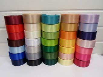Bright Hot Pink Satin ribbon Double sided 3mm 7mm 10mm 15mm 25mm 38mm 50mm Bow Roll